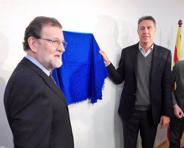 Mariano Rajoy y Xavier García Albiol inauguran un local del PP en Badalona)