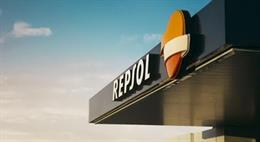 Logo de gasolinera Repsol