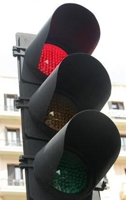 Semáforo en fase roja
