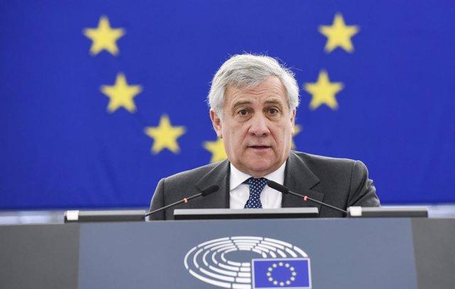 """Brexit.- Tajani afea que se vean las elecciones europeas como una """"especie de juego"""" en la prórroga del Brexit"""