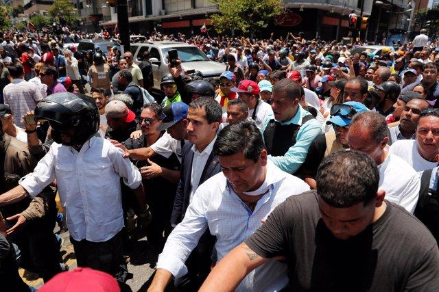 """Venezuela.- Guaidó asegura que cuenta con el apoyo de """"un grupo muy importante"""" de militares """"en todo el país"""""""