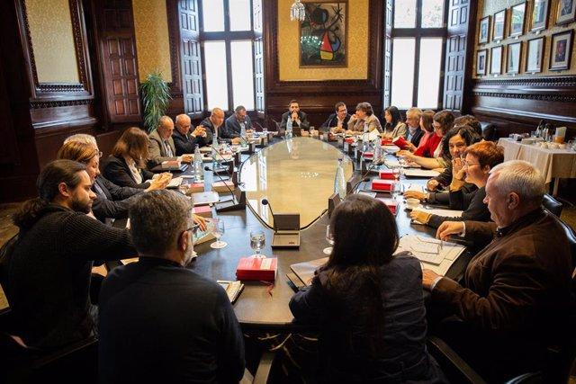 Reunió de la Junta de Portaveu del Parlament de Catalunya