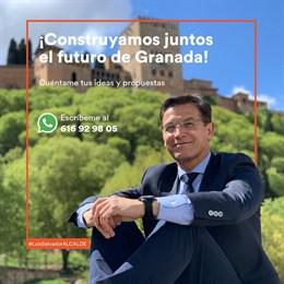 Granada.- 26M.- Salvador (Cs) establece un número de Whatsapp para recibir propuestas ciudadanas
