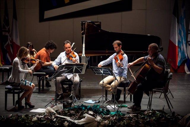 Jaén.- MásJaén.- Los semifinalistas del Premio 'Jaén' de Piano preparan la prueba de música de cámara