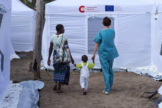 El hospital español en Mozambique comienza su repliegue para regresar a España y recibe la visita de la Reina Letizia