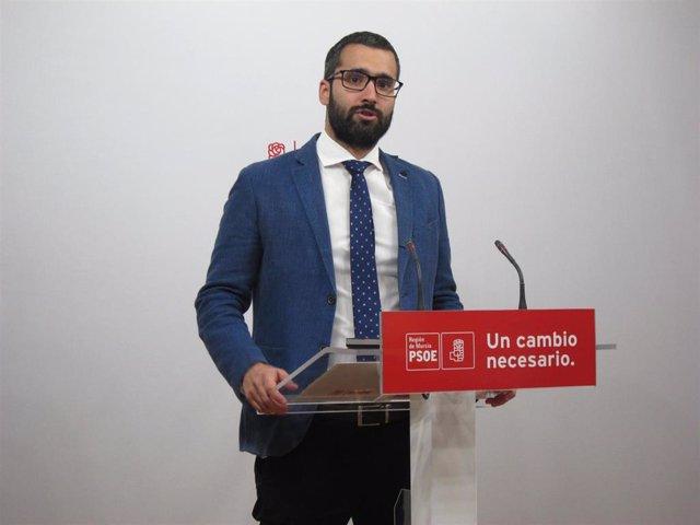 """28A.- Francisco Lucas (PSOE): """"Los resultados del 28 de abril son el principio del cambio en la Región de Murcia"""""""