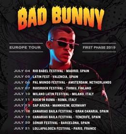 Bad Bunny regresa a Europa tras triunfar en América