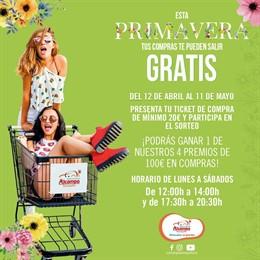 COMUNICADO: El Centro Comercial Alcampo Tamarguillo celebra la primavera sorteando cuatro premios de 100€ en compras