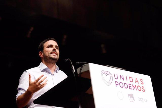 Acto público en Málaga de Unidas Podemos con la participación de Irene Montero, número dos al Congreso por Madrid