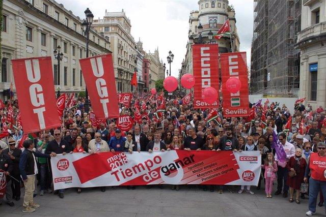 """Sevilla.-CCOO llama a """"volcarse"""" con la manifestación del 1 de Mayo en demanda de un """"acuerdo"""" gubernamental progresista"""