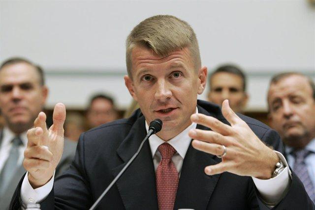 Blackwater USA Chief Executive Erik Prince testifies before the House Oversight