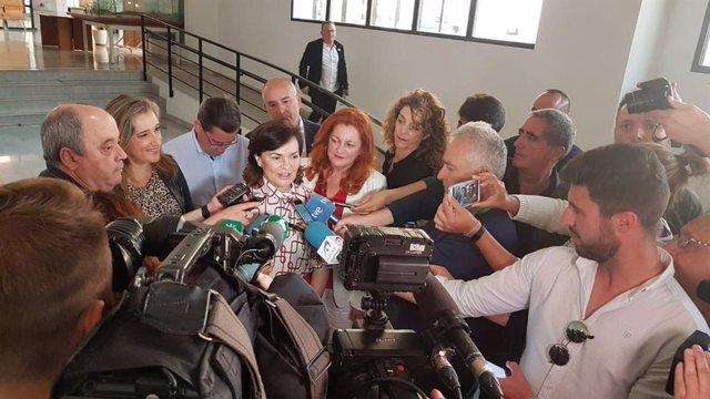 """28A.- Carmen Calvo: """"Cuando Se Pierde La Mesura Se Pierde Lo Más Importante En Política, El Apoyo De Los Ciudadanos"""""""