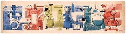 Google celebra el Día Internacional de los Trabajadores con un colorido 'doodle'
