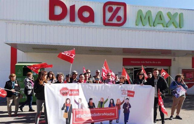 Economía.- El seguimiento de la huelga en Dia ha sido del 100% en Albacete y del 60% en el resto de C-LM, según CC.OO.
