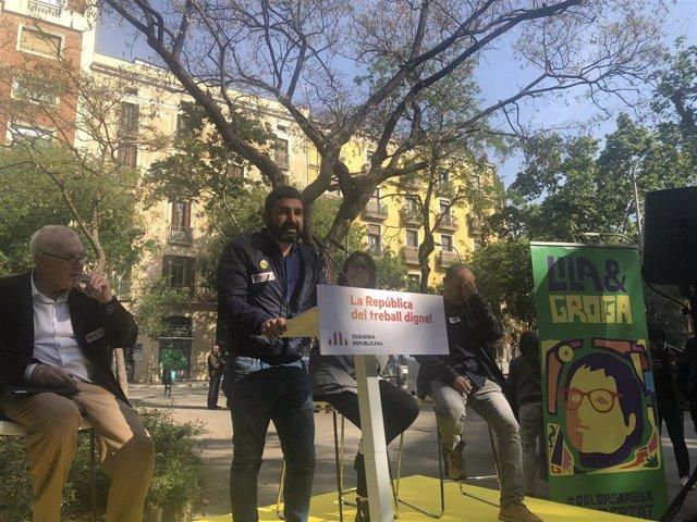 """1 De Mayo.- El Homrani (ERC): Defender Derechos Laborales Es """"La Mejor Manera De Hacer República"""""""