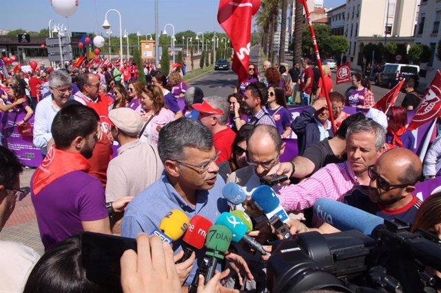 1 De Mayo.- El PSOE Destaca Que Su Objetivo Es Crear Empleo Y Valora La Reducción De Parados Durante El Gobierno De Vara