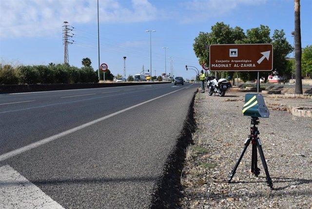 Córdoba.-Sucesos.-Interceptados 78 vehículos que circulaban con exceso de velocidad en poco más de tres horas en la A-45