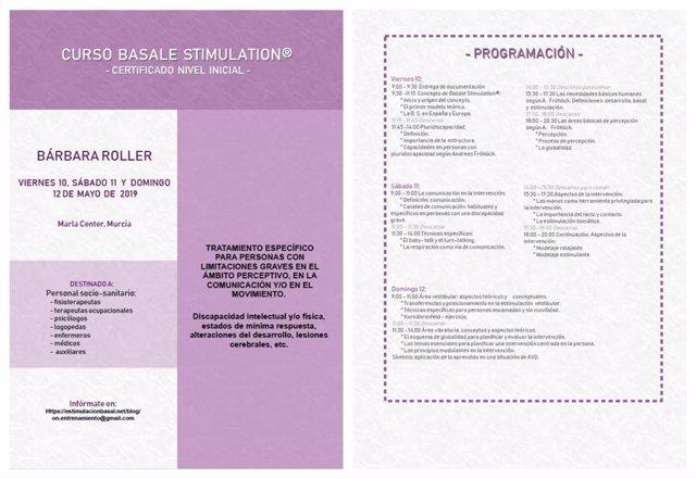 Un curso formará en Murcia a profesionales para tratar con Estimulación Basal a pacientes con limitaciones graves