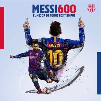 Leo Messi alcanza los 600 goles con el Barça