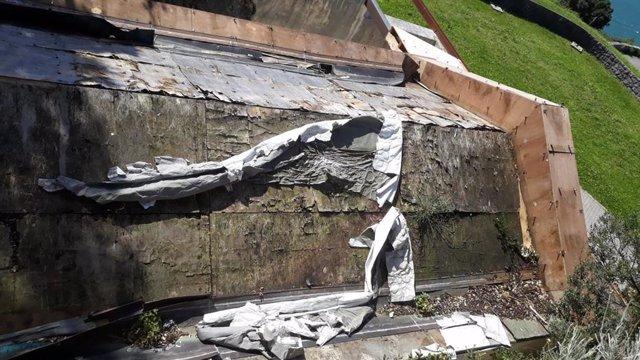 Santoña.- La batería alta de San Martín sufre actos vandálicos y expolios desde hace más de un año