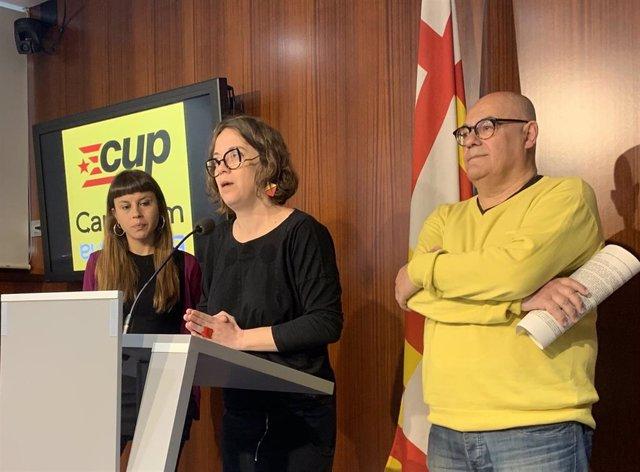 "La CUP pide a BComú, JxCat, ERC y Graupera que recuperen la ""Barcelona del 1-O"""