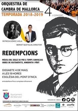 La Orquesta de Cámara de Mallorca ofrece el sábado el concierto 'Redempcions'