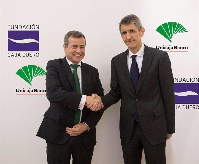 Unicaja Banco suscribe un acuerdo para apoyar económicamente las actividades de Fundación Caja Duero