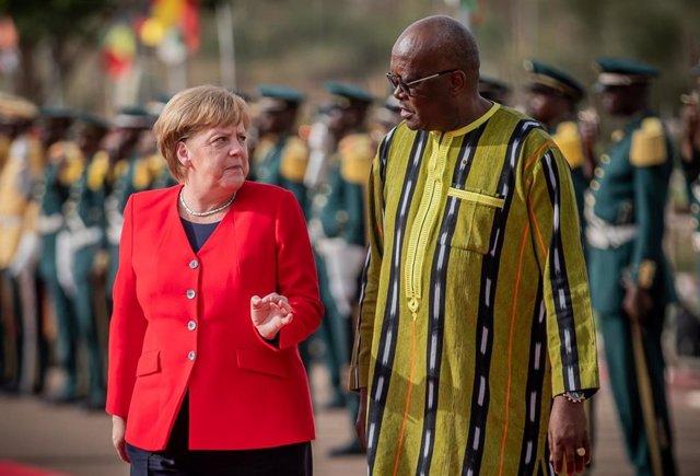 Chancellor Angela Merkel in Burkina Faso