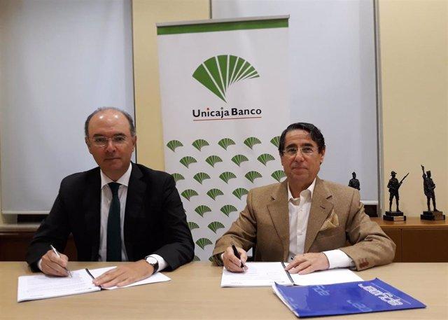 Málaga.- Unicaja Banco renueva su colaboración con Apymer para apoyar a un millar de empresarios de Ronda y Campillos