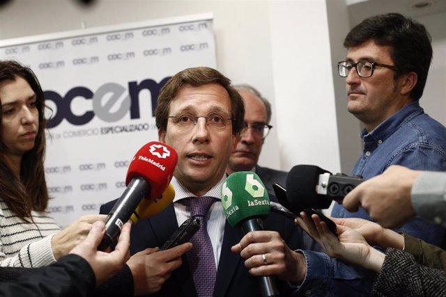 """26M.- Almeida reitera que """"no se multará en Madrid Central antes de elecciones"""" porque Carmena """"sabe que la perjudica"""""""