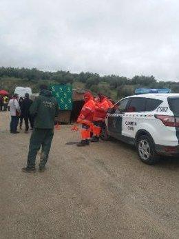 Efectivos participan en la búsqueda del motorista desaparecido en Martos