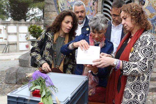 El Govern entrega los restos de un maquis italiano a sus familiares 70 años después