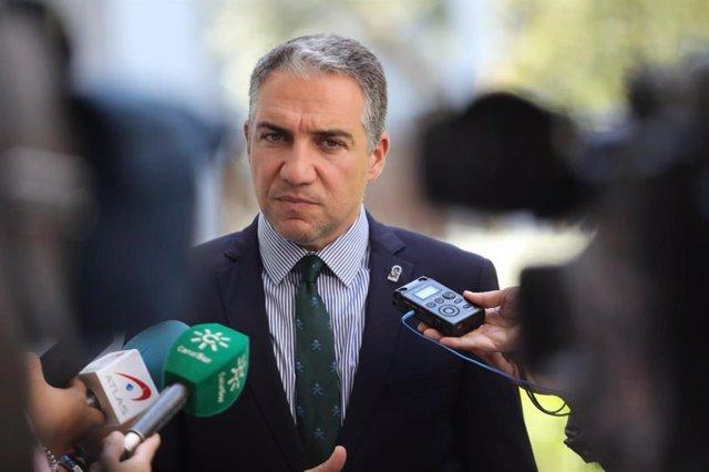 """Bendodo recuerda a Vox que el cambio en Andalucía """"tiene tres patas"""", pide """"sosiego"""" y cree que apoyará el Presupuesto"""