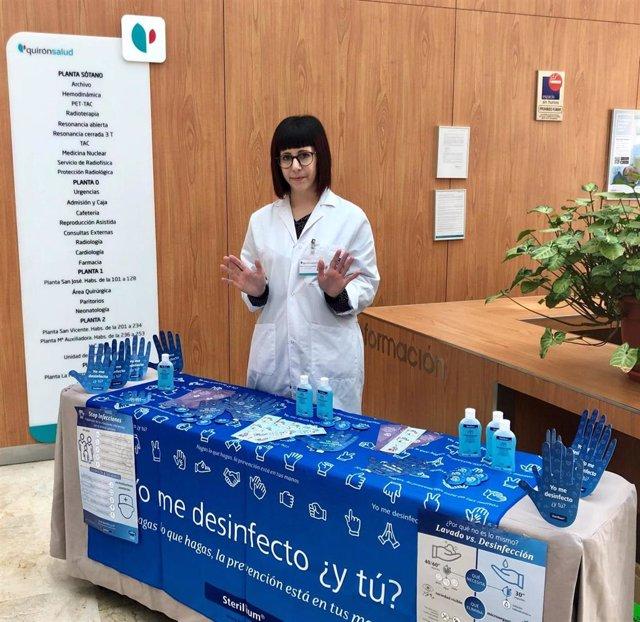 Quirónsalud destaca la importancia de la higiene de las manos para prevenir infecciones en la atención sanitaria
