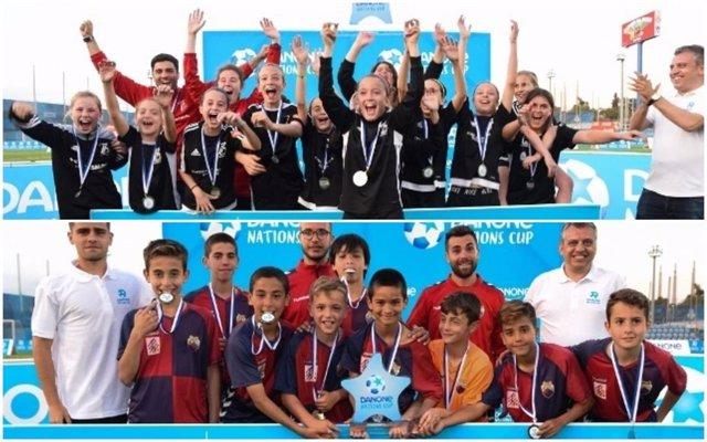 Fútbol.- El CE Tecnofútbol Salou y el CE Mercantil, campeones de la Fase Nordeste de la Danone Nations Cup