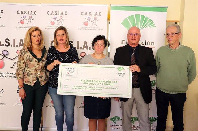 Málaga.- Unicaja.- Fundación Unicaja apoya a Casiac de Antequera en su taller de Transición a la vida adulta