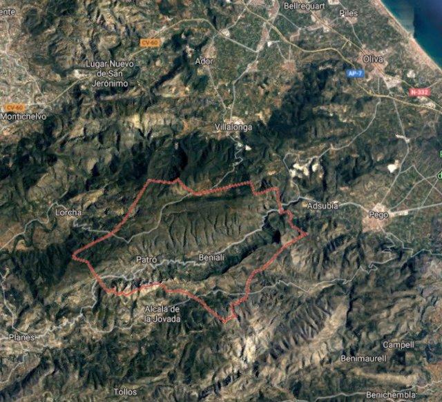 Alicante.- Sucesos.- Herida una chica al caer por un barranco de 20 metros mientras montaba en bici en Vall de Gallinera