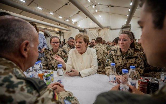 German Chancellor Angela Merkel in Mali