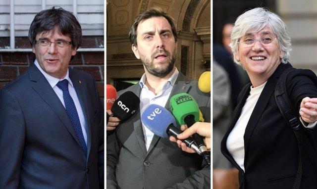 Puigdemont, Comín y Ponsatí