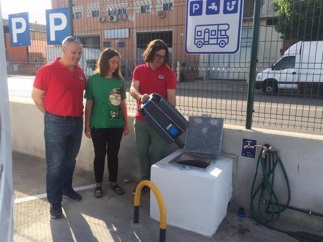 Emaya abre un punto de servicios para autocaravanas en el parque verde de Son Castelló