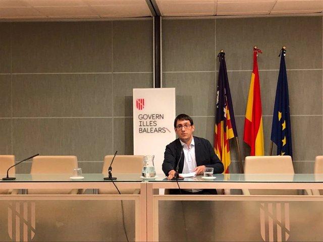 """AMP.- Negueruela valora positivamente los datos de la EPA en Baleares y dice que la economía """"sigue creciendo"""""""