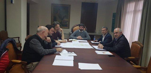 Gobierno foral y Ayuntamiento de Tudela se reúnen para analizar las obras de regeneración urbana del barrio de Coscolín
