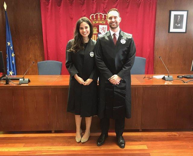 Toman posesión dos nuevos letrados de la Administración de Justicia destinados en Tudela y Estella