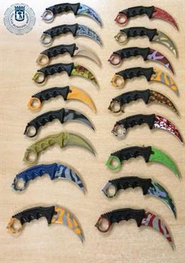 Sucesos.- Un detenido por vender cuchillos prohibidas llamadas 'karambit'