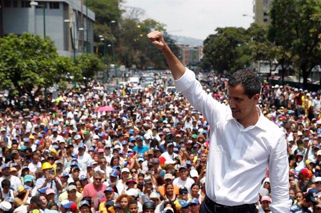 """Venezuela.- Guaidó llama a la movilización nacional en los próximos días para acabar con la """"usurpación"""" en Venezuela"""