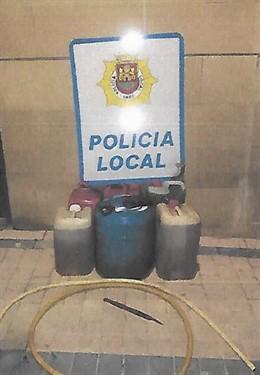 Detenidas dos personas por sustraer gasoil de varios camiones