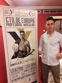 José Luis González Sánfelix buscará el título europeo de Muay Thai en una velada en la Plaza de Toros de Mérida