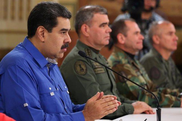 """Maduro se reivindica como el presidente de """"la clase obrera"""" frente """"al imperio y sus lacayos"""""""