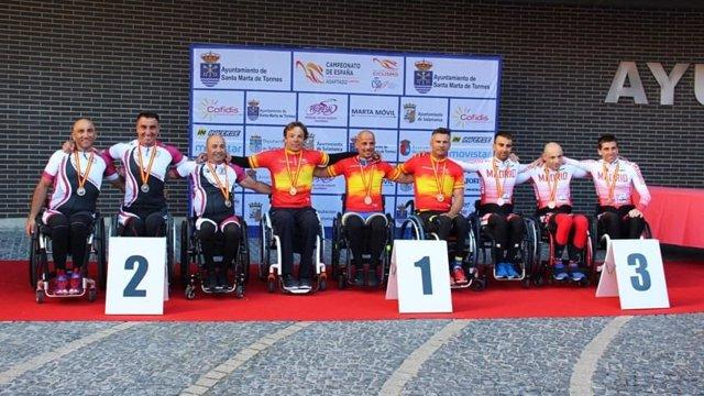 Ciclismo.- La selección catalana reedita título en los relevos del Campeonato de España de ciclismo adaptado