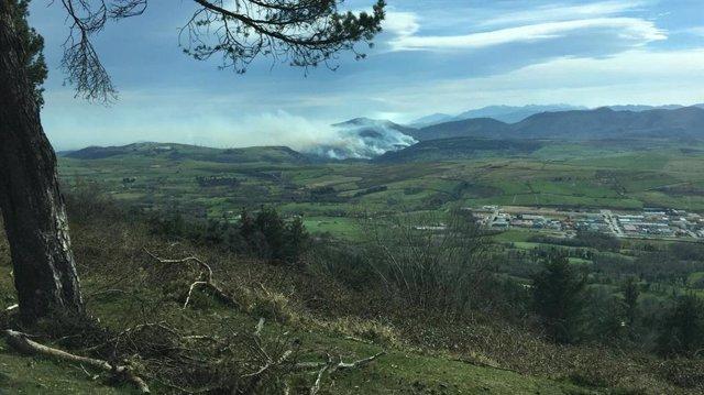 Riesgo extremo por incendios forestales en toda Asturias